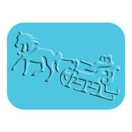 Embossing Folder Horse Sleigh - Sizzix