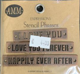 Stencil Phrases Love - AMM
