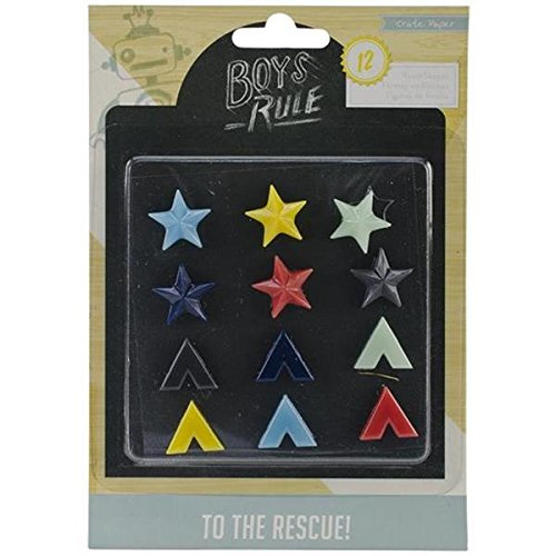 Boys Rule Resin Shapes -  Crate Paper