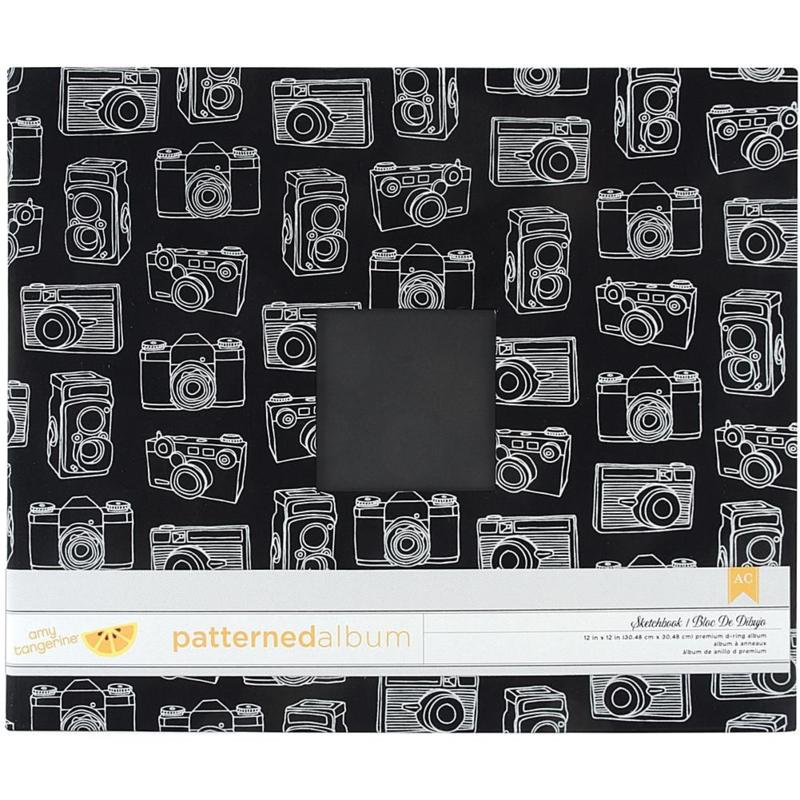 """Patterned Album Sketchbook 12""""x12"""" D-ring American Crafts"""