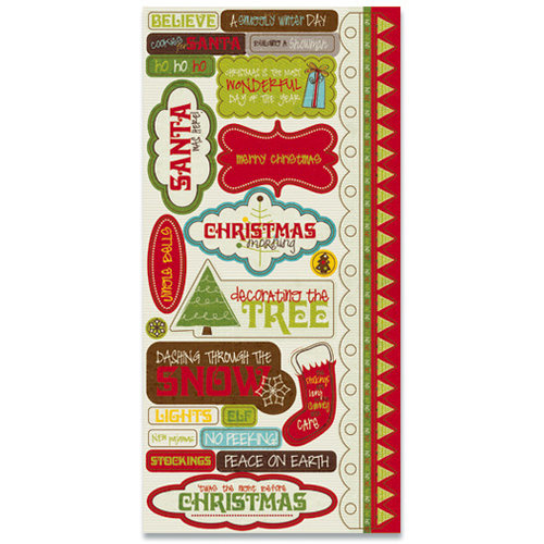 Title Stickers North Pole Collection - Crate Paper