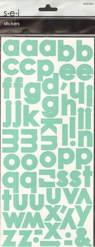 Dill Alphabet Stickers S.E.I.