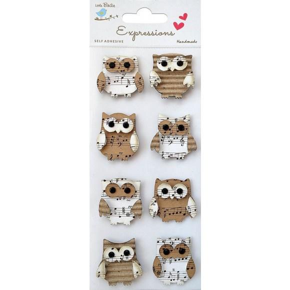 Kraft Owls handmade - Vaessen Creative