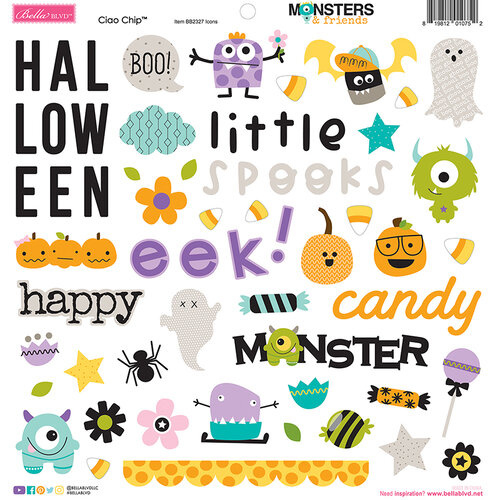 Monsters & Friends Chipboard Icons - Bella BLVD
