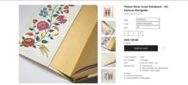 Flower Wow Lined Notebook - A5, Kalocsa Marigolds