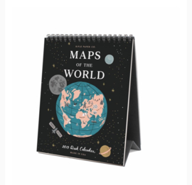 Rifle Paper Co 2019 Maps of the World Bureau Kalender