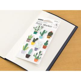 Midori Sticky Point Markers Cacti