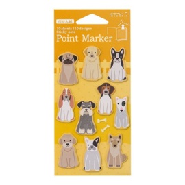 Midori Sticky Point Markers Dogs