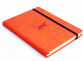 Wildlife Orange Tiger  dotted notebook A5+