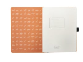 Earth Tangerine Serengeti dotted notebook A5+