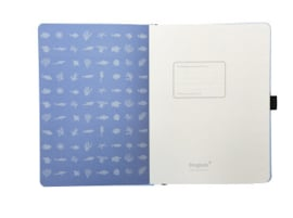 Earth Sky Blue Great Barrier Reef dotted notebook A5+