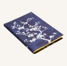 Flower Wow Lined Notebook - A5, Ceramic Blue