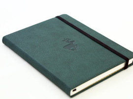 Wildlife Green Deer dotted notebook A5+