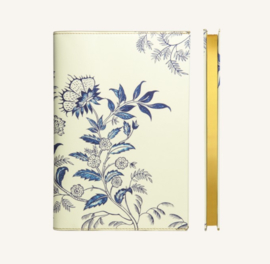 Flower Wow Lined Notebook - A5, Ceramic White