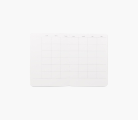 Appointed Monthly Planner (datumloos) in Charcoal