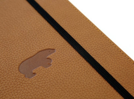 Wildlife Brown Bear dotted notebook A5+
