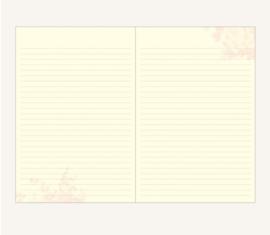 Flower Wow Lined Notebook - A5, Tea Rose