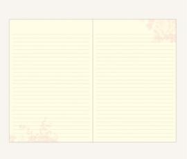 Flower Wow Lined Notebook - A5, Purple