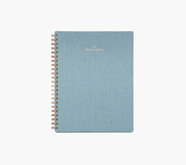 Appointed 2018-2019 Weekly Notebook Planner in Chambray Blue