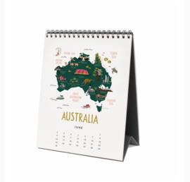 Rifle Paper Co 2019 Maps of the World Bureau Kalender