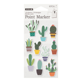 Midori Sticky Point Markers Cacti