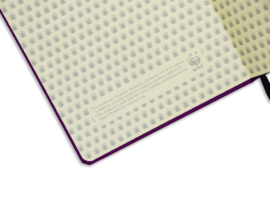 Wildlife Purple Hippo dotted notebook A5+