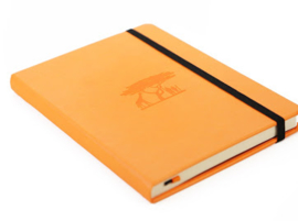 Wildlife Tangerine Serengeti dotted notebook A5+