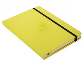 Wildlife Lime Yasuni dotted notebook A5+