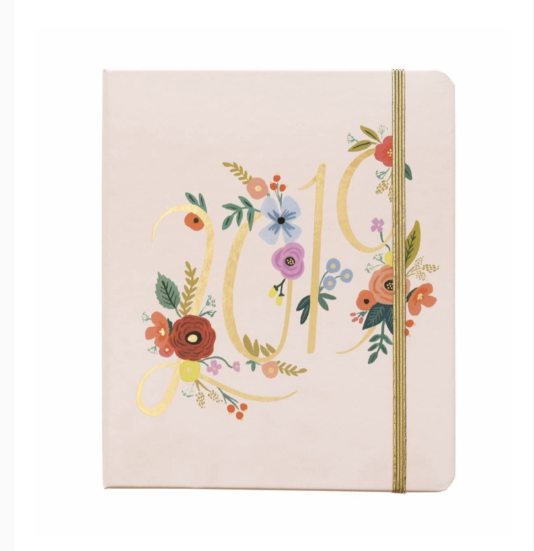 17-maanden covered Planner 2019 Rifle Paper Co Bouquet