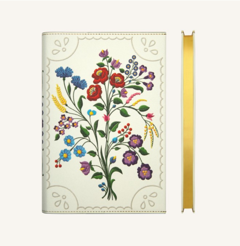 Flower Wow Lined Notebook - A5, Kalocsa Violets