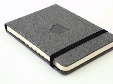 Wildlife Grey Elephant dotted notebook reporter-formaat A6+