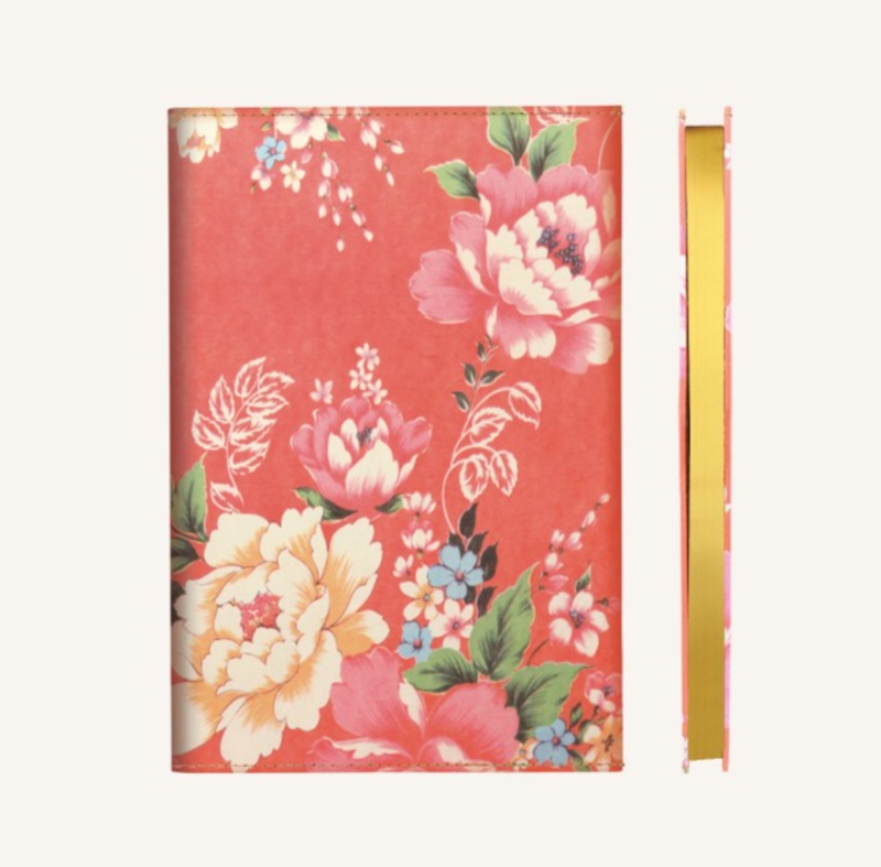 Flower Wow Lined Notebook - A5, Red