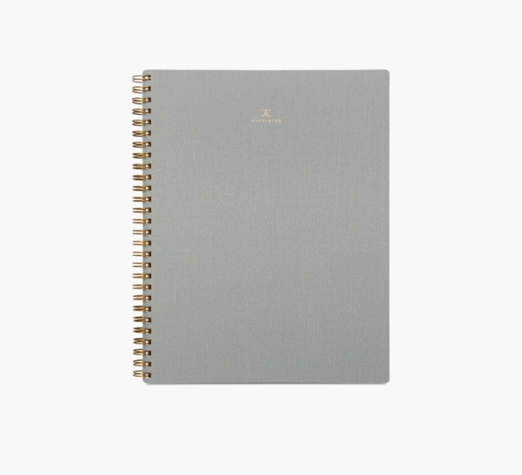Appointed Dot Grid Workbook in Dove Gray