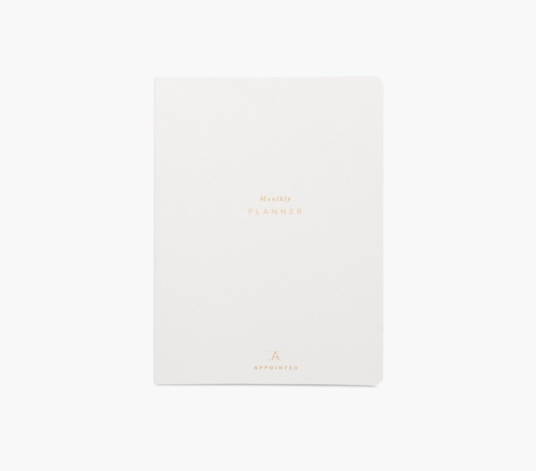 Appointed Monthly Planner (datumloos) in Canvas White