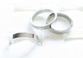 3 stainless steel ringen zilver maat 17/Z4