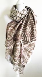 Grote sjaal/omslagdoek bruin