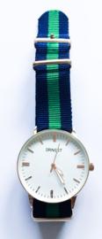 Horloge blauw/groen