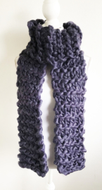 Grof gebreide sjaal paars