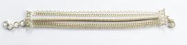 Verzilverde armband multi strengen