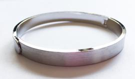 slavenarmband mat zilver verzilverd ø 6 cm