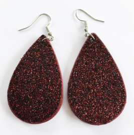 Glitteroorbellen rood