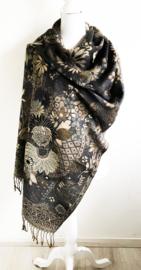 Grote sjaal/omslagdoek bloemen