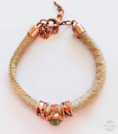 Armband rosé beige