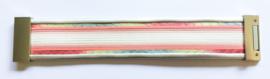Brede armband Rainbow roze