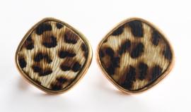 Clip oorbellen tijgerprint