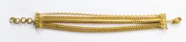 Vergulde armband multi strengen