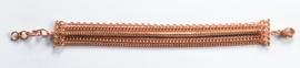 Rosé vergulde armband multi strengen