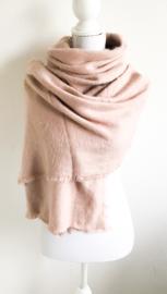 Grote zachte sjaal oud roze