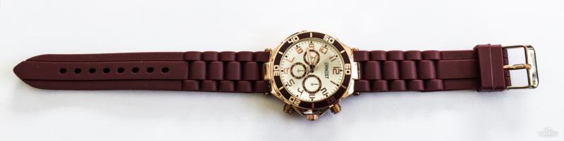 Rubberband horloge bordeaux/rosé