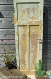 Oude brocante shabby deur (L007)